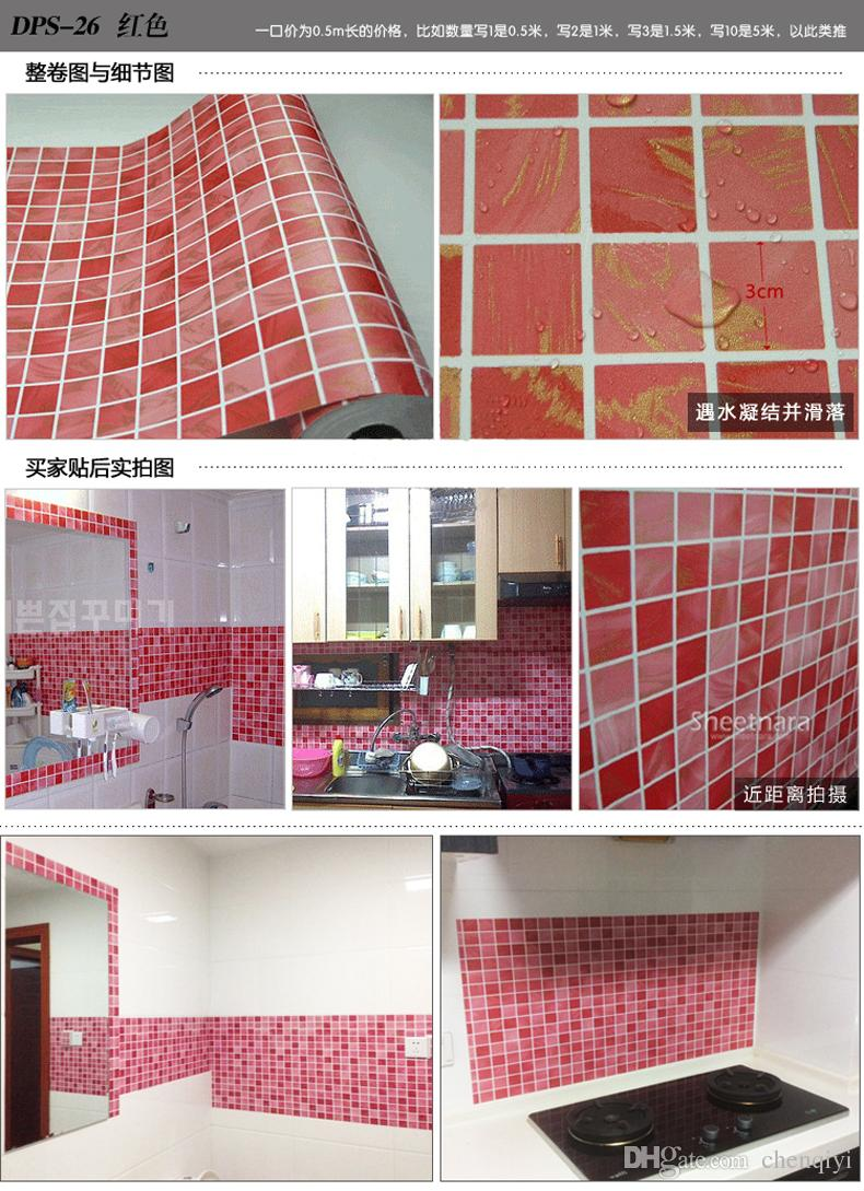 New Kitchen Bathroom Mosaic Self Adhesive Wallpaper Top Quality 790x1089
