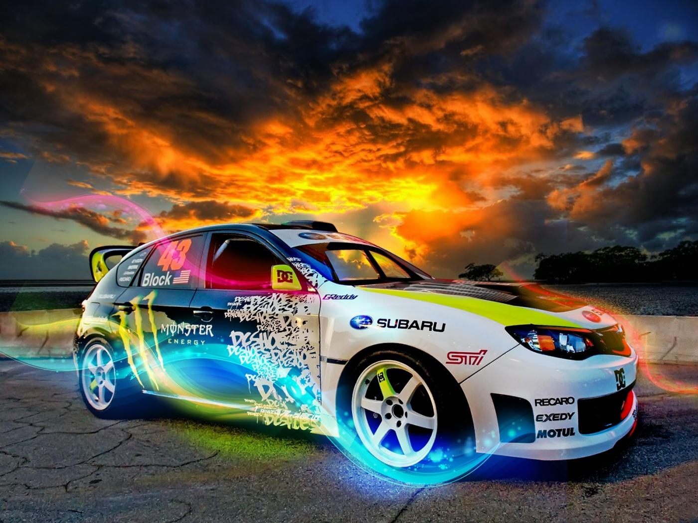 download Pimped Car Ken Block Subaru wallpaper desktop background 1400x1050