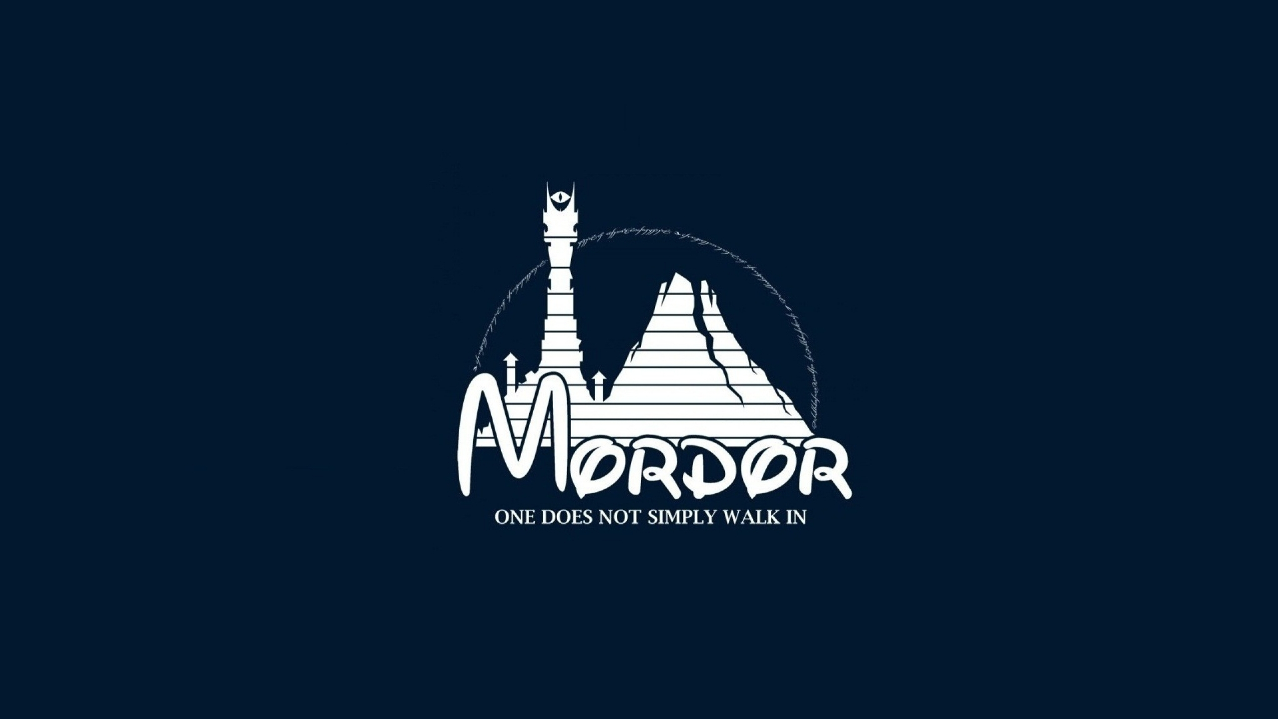 lord of the rings mordor simplistic disney logo 1920x1080 wallpaper 2560x1440