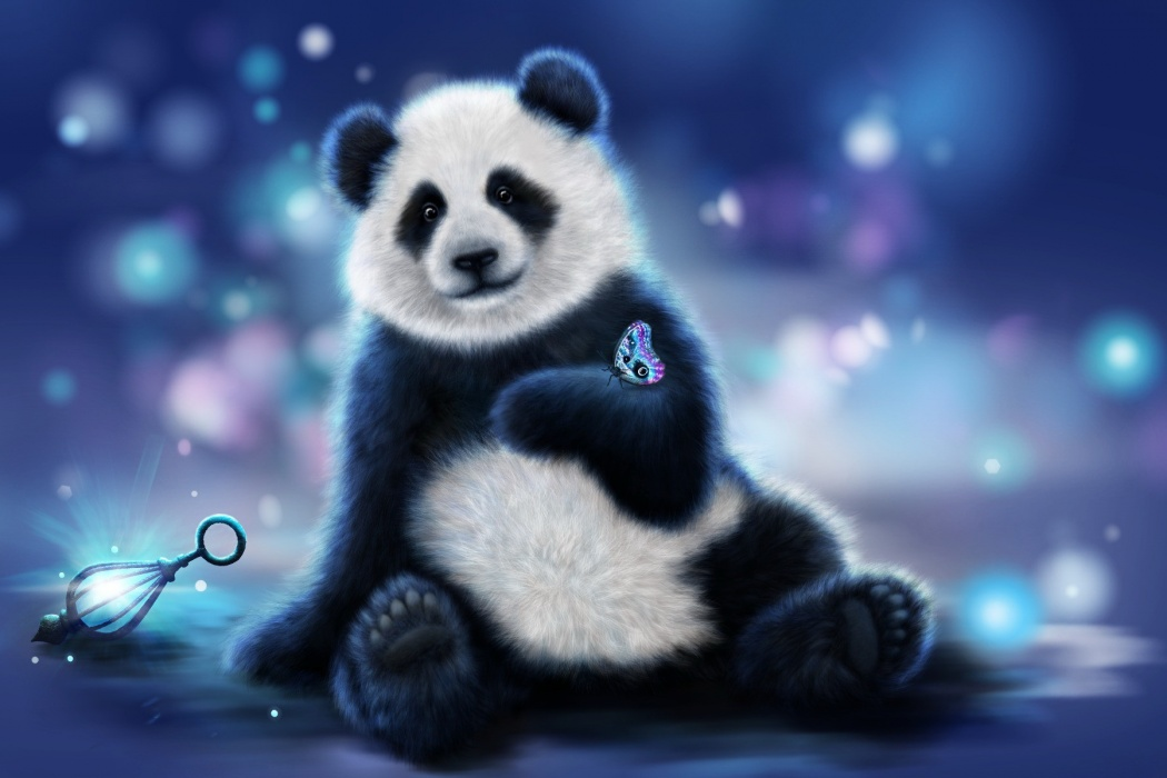 on Cute Panda Hand Animated Wallpaper wallpaper Best HD Wallpapers 1050x700