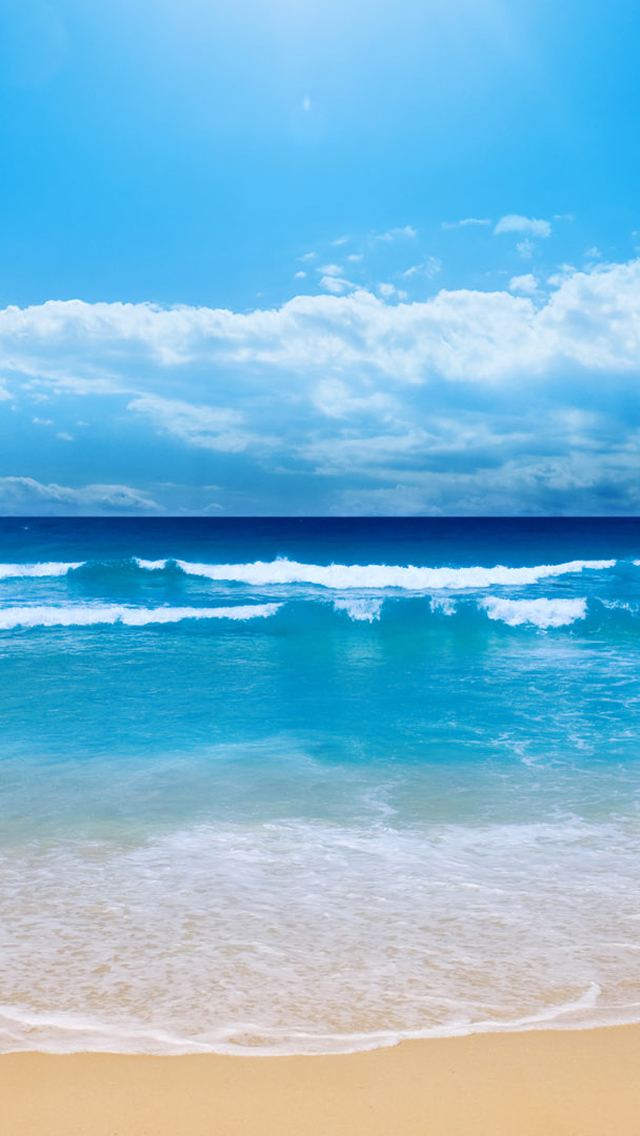 Blue Beach iPhone 5s Wallpaper Download | iPhone Wallpapers, iPad ...