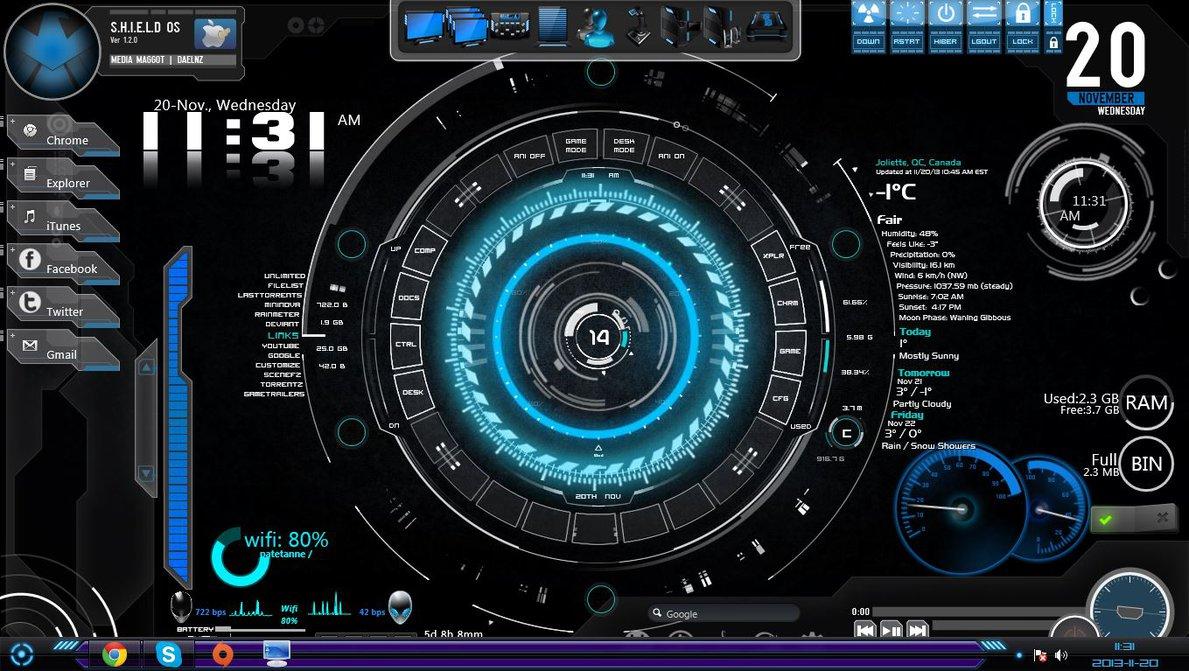 Desktop background  Jarvis by Darkyegirls 1189x671