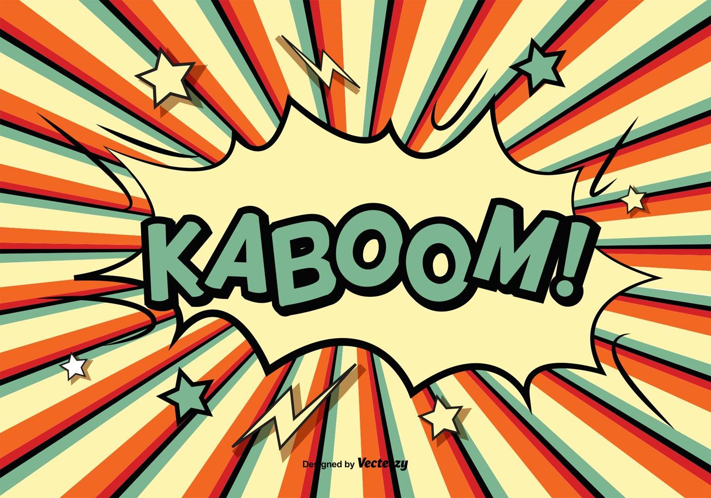 Comic Style Kaboom Illustration   Download Vectors Clipart 1400x980