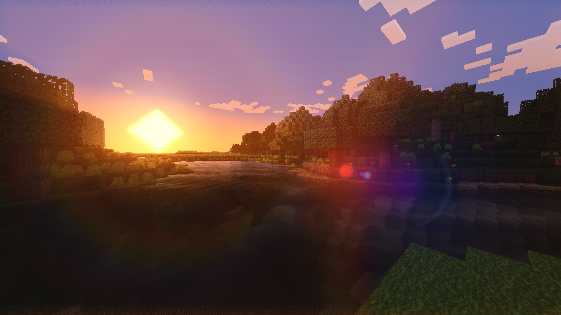 Download Minecraft Shaders Sunset Wallpaper 255720 1920x1080 46