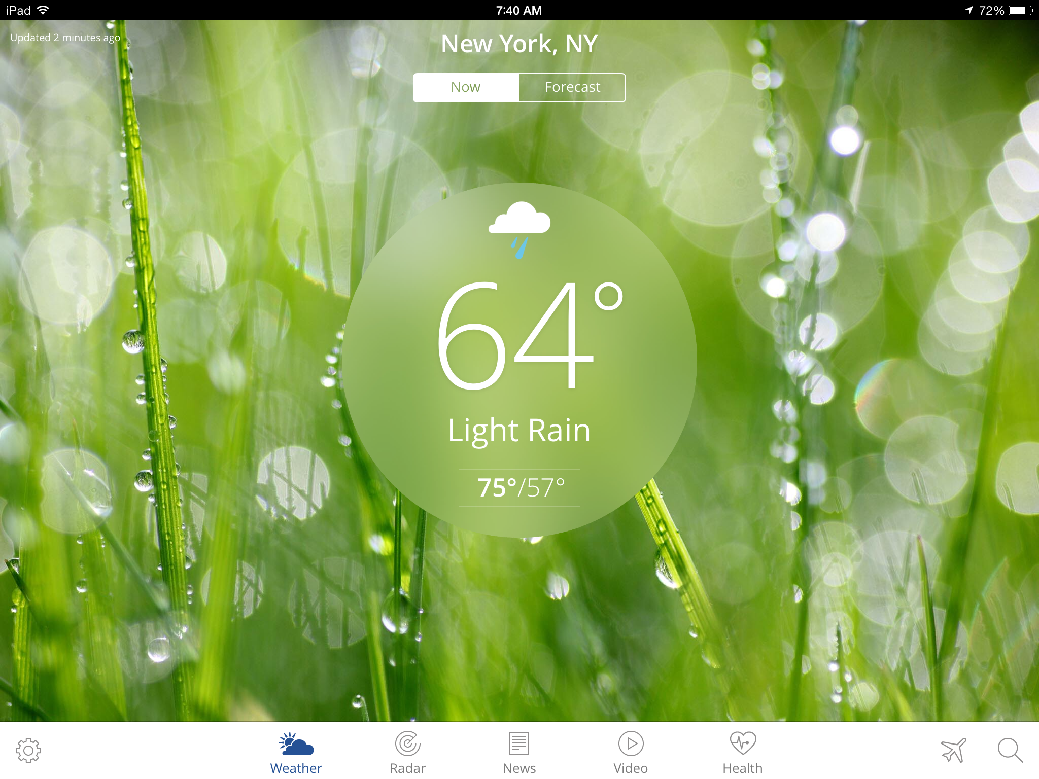 The Weather Channel App for iPad 2048x1536