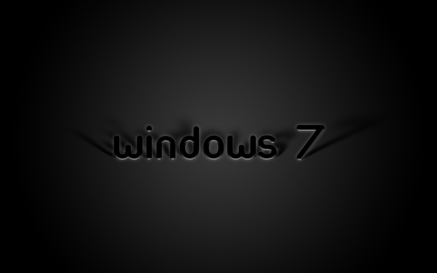 Black Windows 7 Wallpapers 1440x900