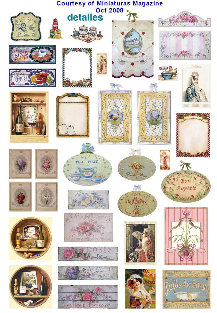 Dollhouse printables from Miniaturas magazine httpwwwcdhmorg 736x1061