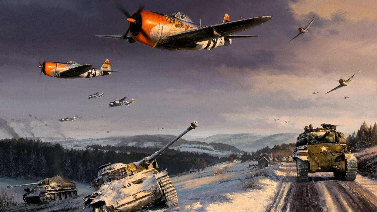 P47 Thunderbolt P38 Lightning World War II Battle of the Ardennes 1244x700