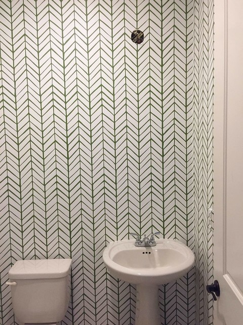 Wallcovering Installation of Serena Lily Feathers industrial 480x640