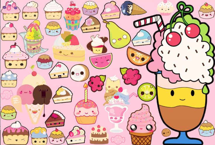 12 <b>Kawaii</b> Breakfast Clipart, <b>Kawaii</b> Emoticons, <b>Cute</b> Breakfast ...