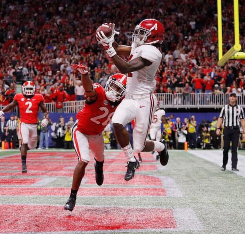 Jerry Jeudy TOUCHDOWN Alabama 35 Georgia 28 in the 2018 SEC 831x796