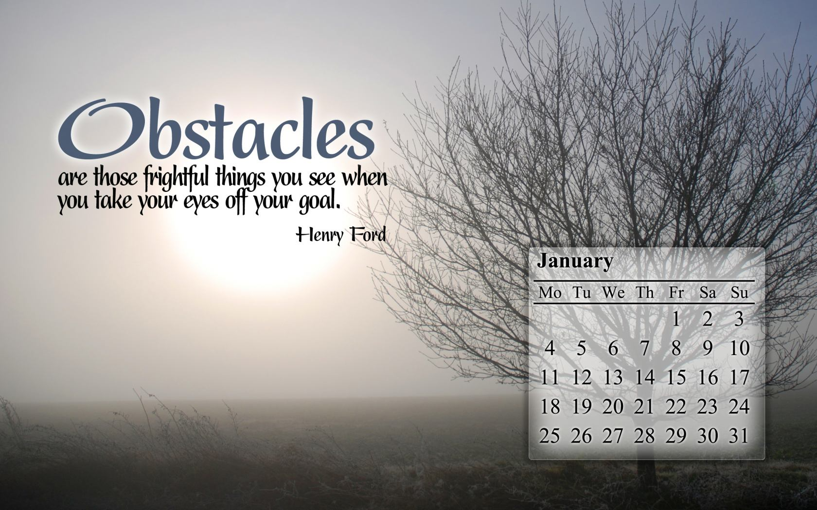 January 2010 Calendar Desktop Wallpaper 1 1680x1050