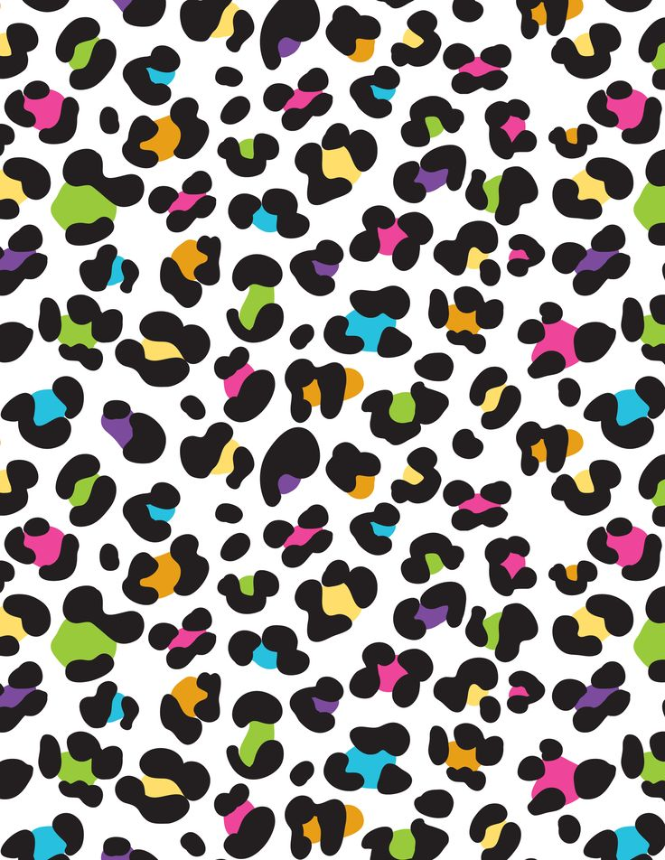 colorful rainbow lisa frank leopard cheetah background wallpaper aqua 736x952