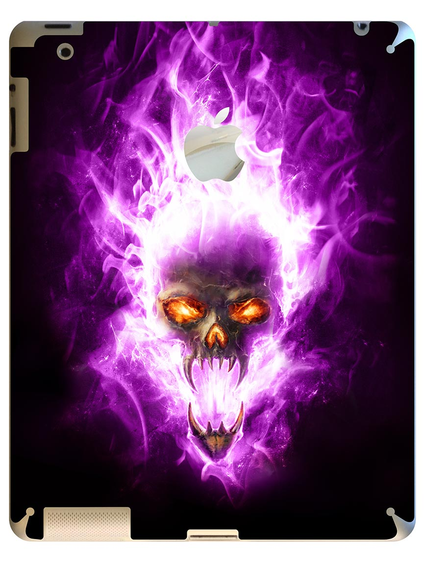 skull on purple fire wwwpixsharkcom images galleries