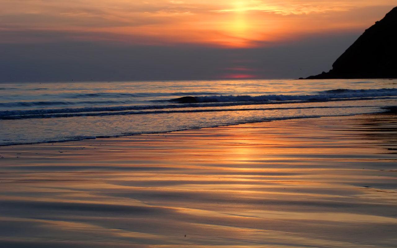 Beautiful Beach Sunset Wallpaper Hd Background   HD Wallpapers 1280x800