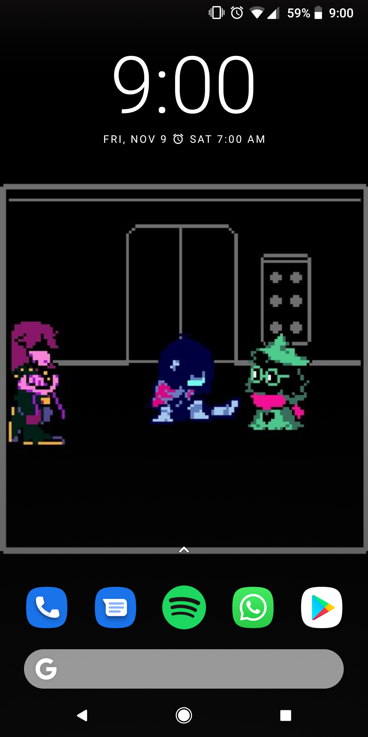 Thought you might like the wallpaper idea Deltarune 1440x2880