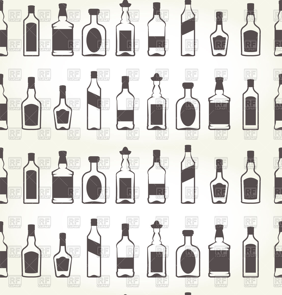 Alcohol bottels seamless patten   booze background Vector Image of 1149x1200