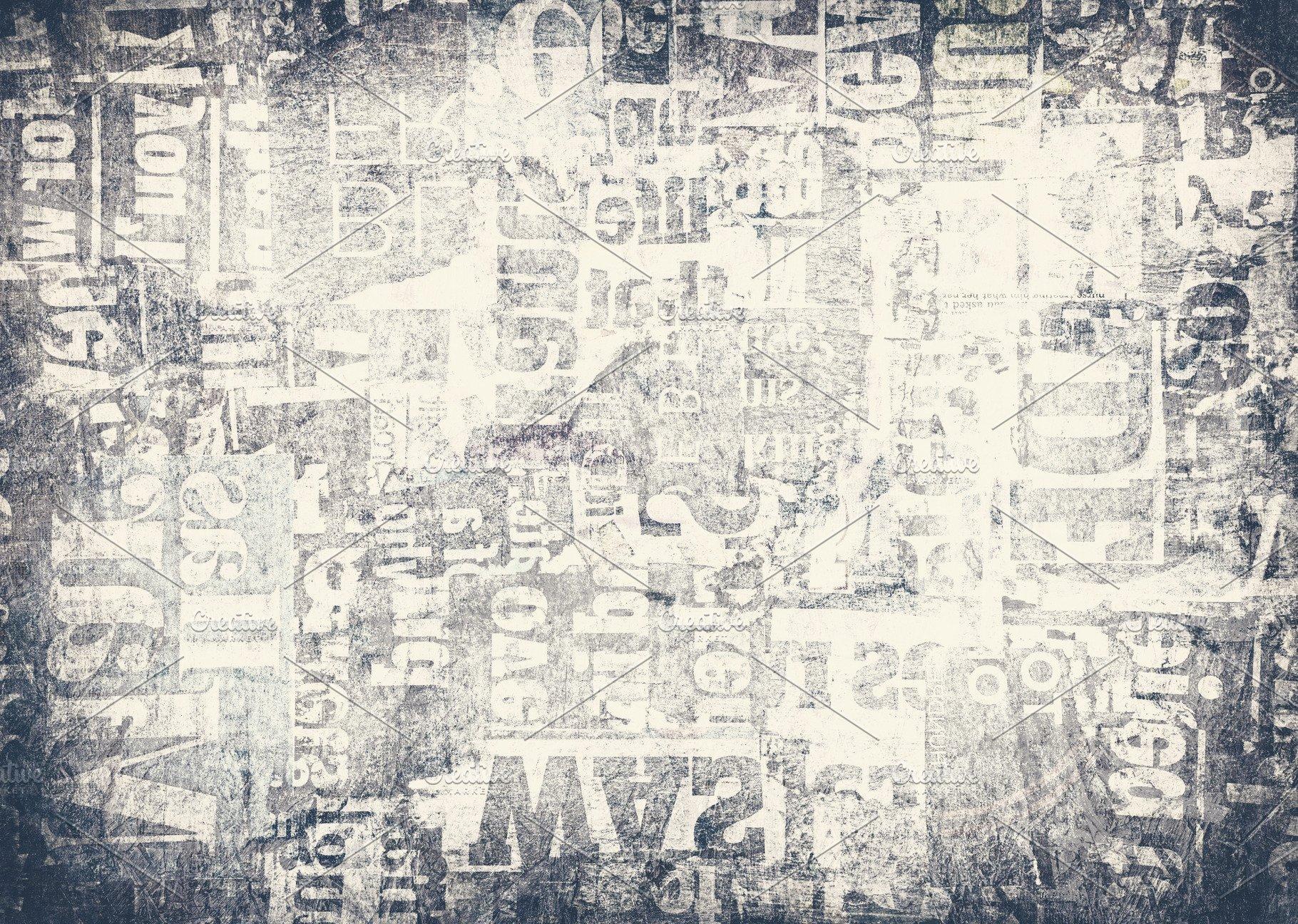 Grunge Newspaper Background Abstract Photos Creative Market 1820x1296