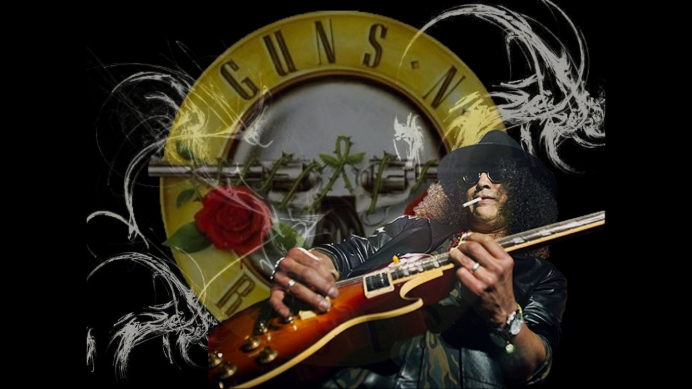 Free Download Guns N Roses Logo Wallpapers 1366x768 For Your
