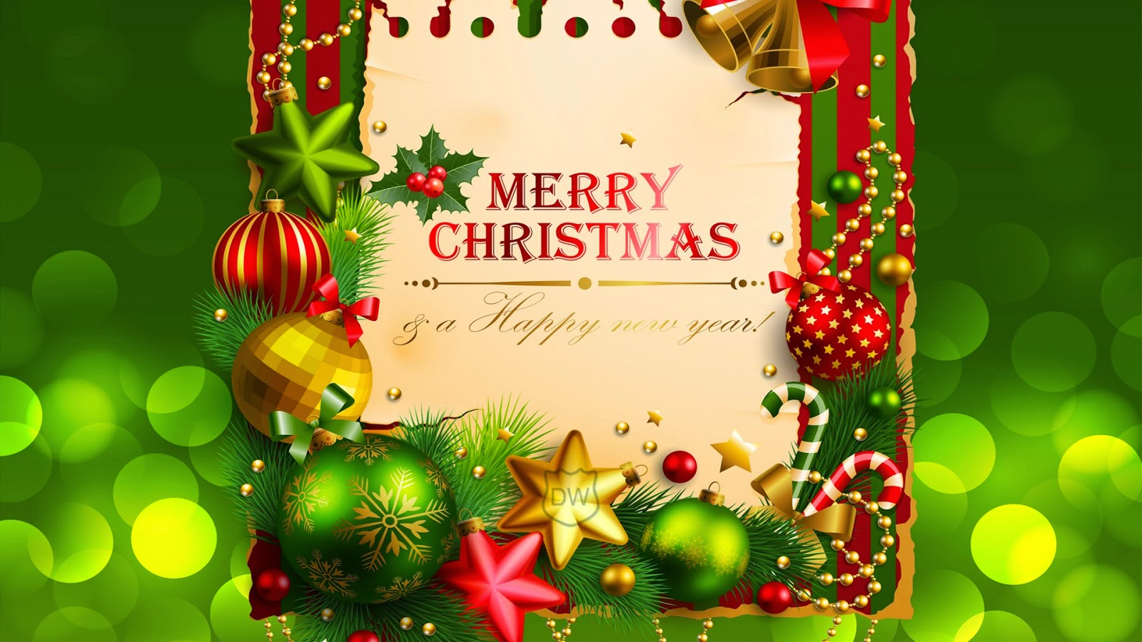 Superb Merry Christmas Happy New Year 2015 Wallpapers 1600x900