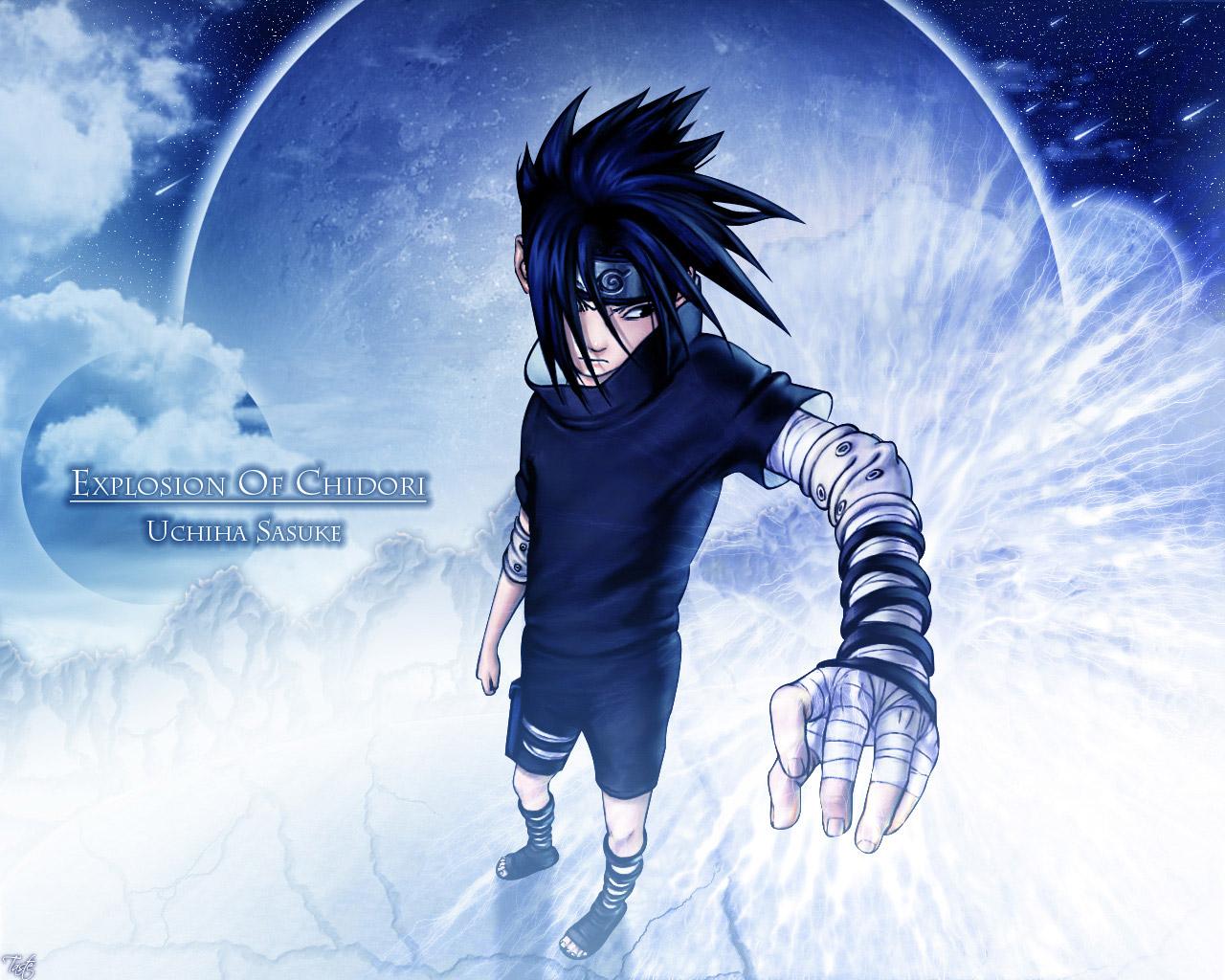 Download the Naruto anime wallpaper titled Uchiha Sasuke 1280x1024