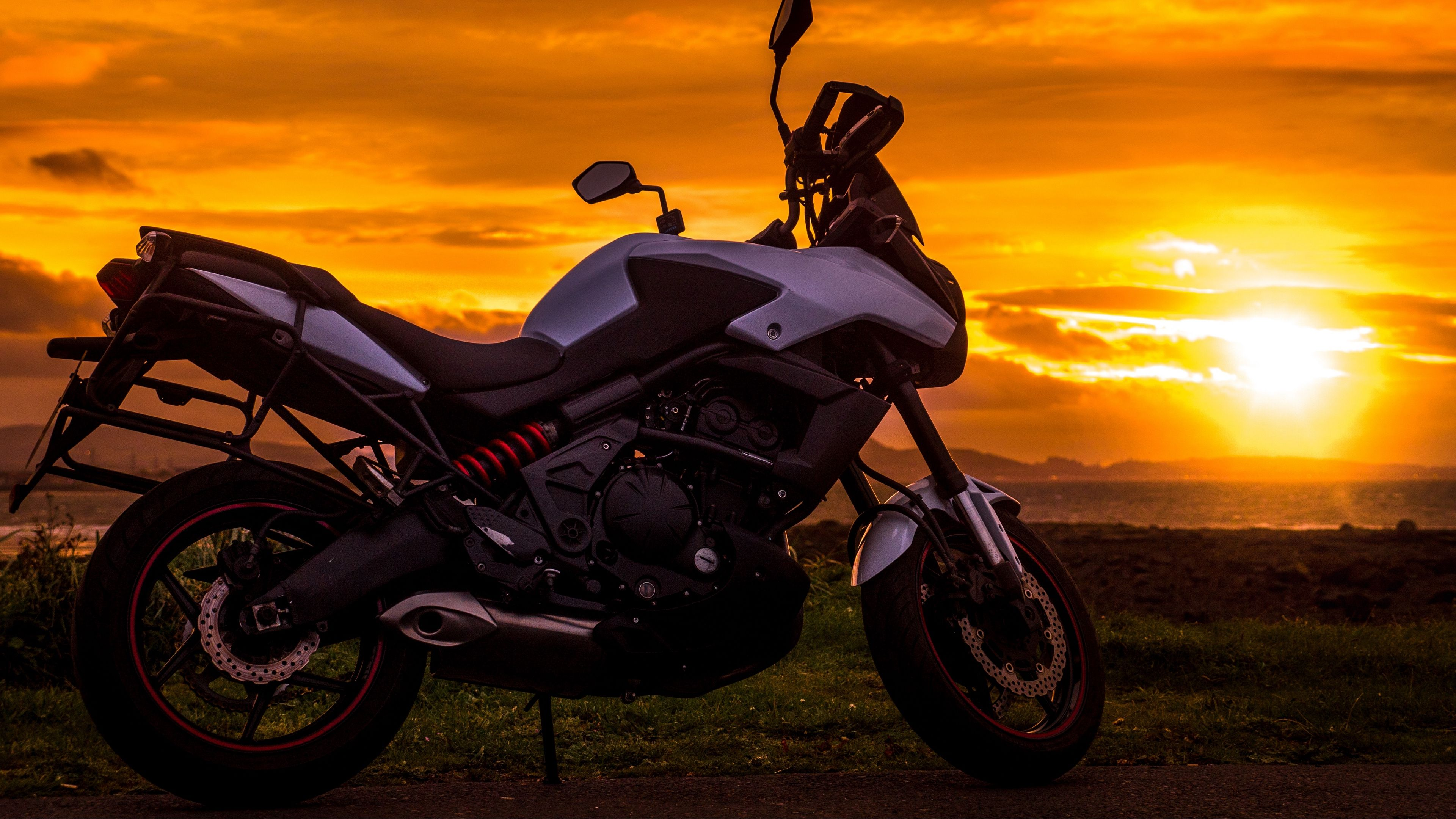 motorcycle sunset style 4k 4k HD Wallpapers Background hd 3840x2160