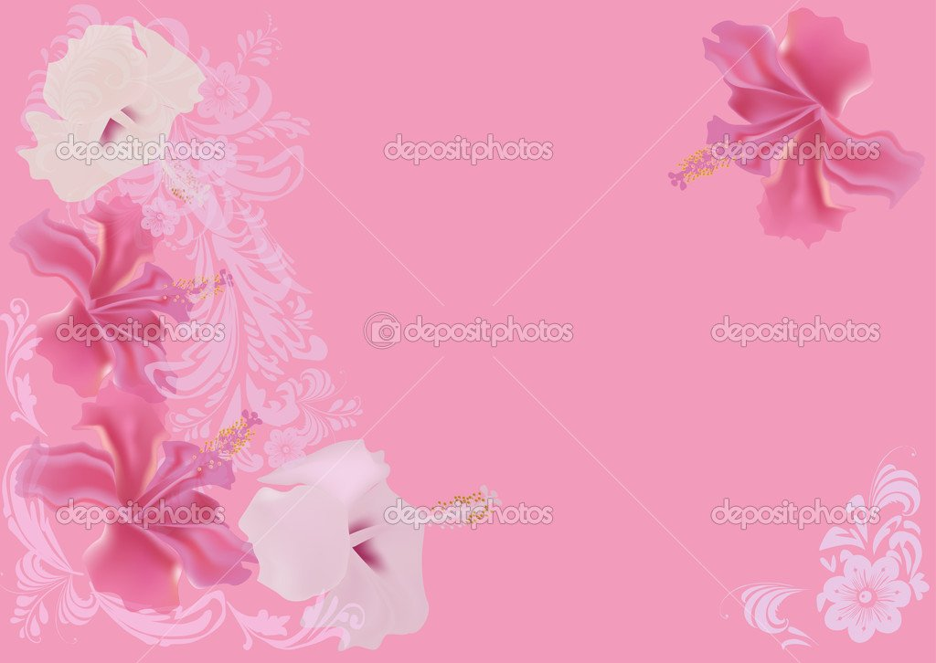 light pink floral background - photo #35