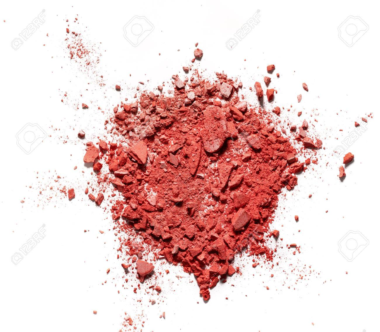 Make Up Crushed Rouge On White Background Stock Photo Picture And 1300x1135