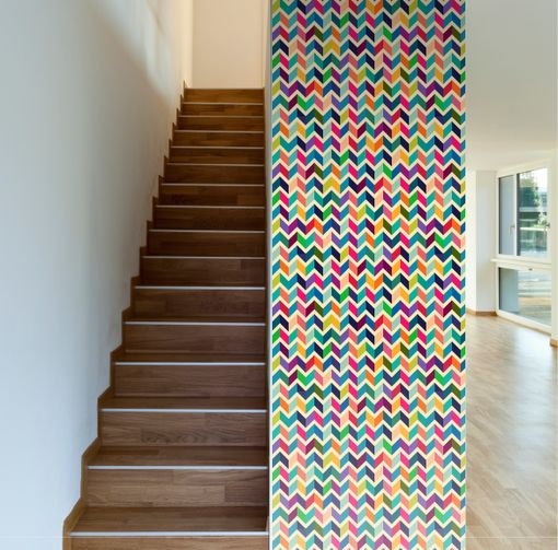 Dimensional Retro Removable Wallpaper 510x503