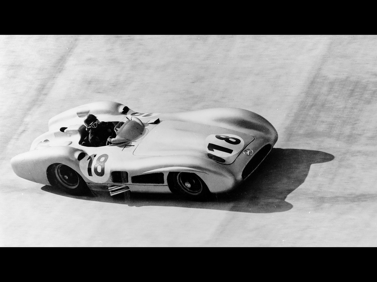 Mercedes Benz and Juan Manuel Fangio   1955 Italian Grand Prix 1280x960