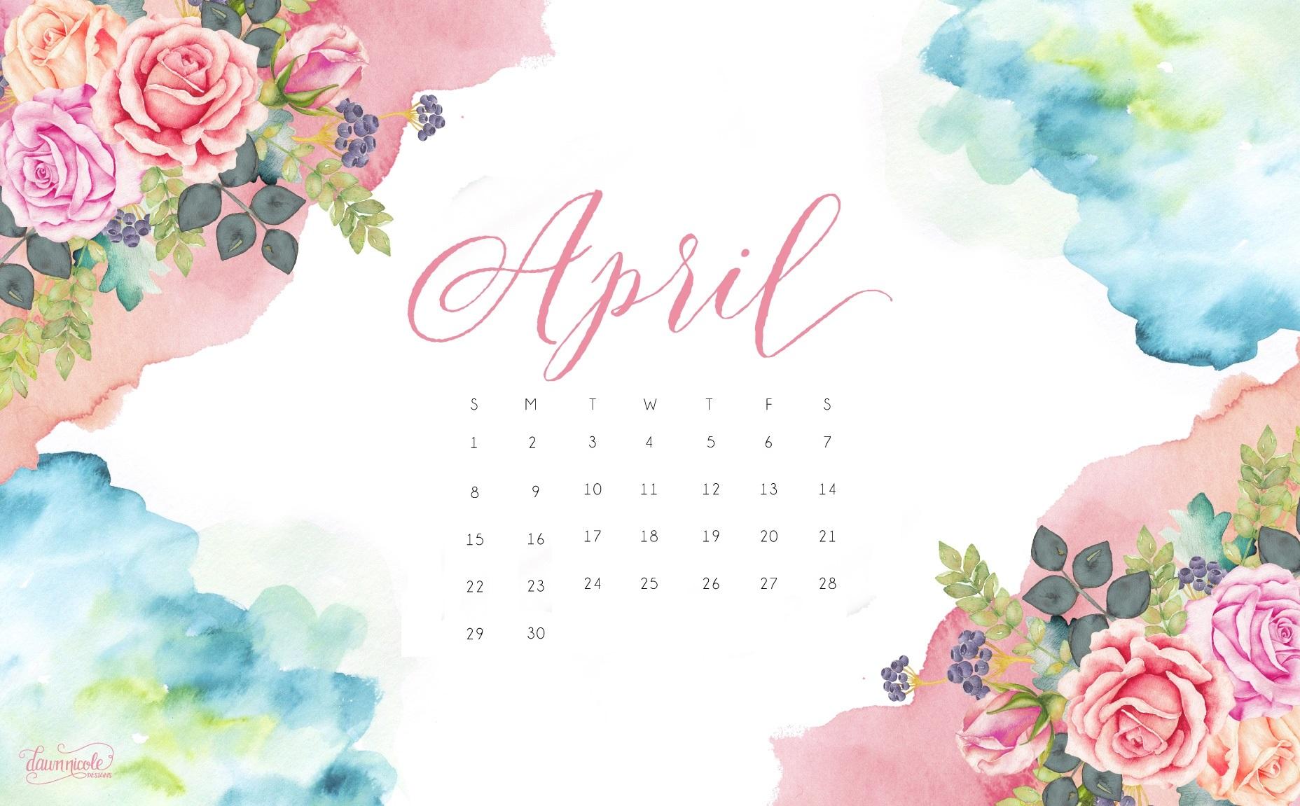 April 2018 Calendar Wallpaper Calendar 2018 1856x1151