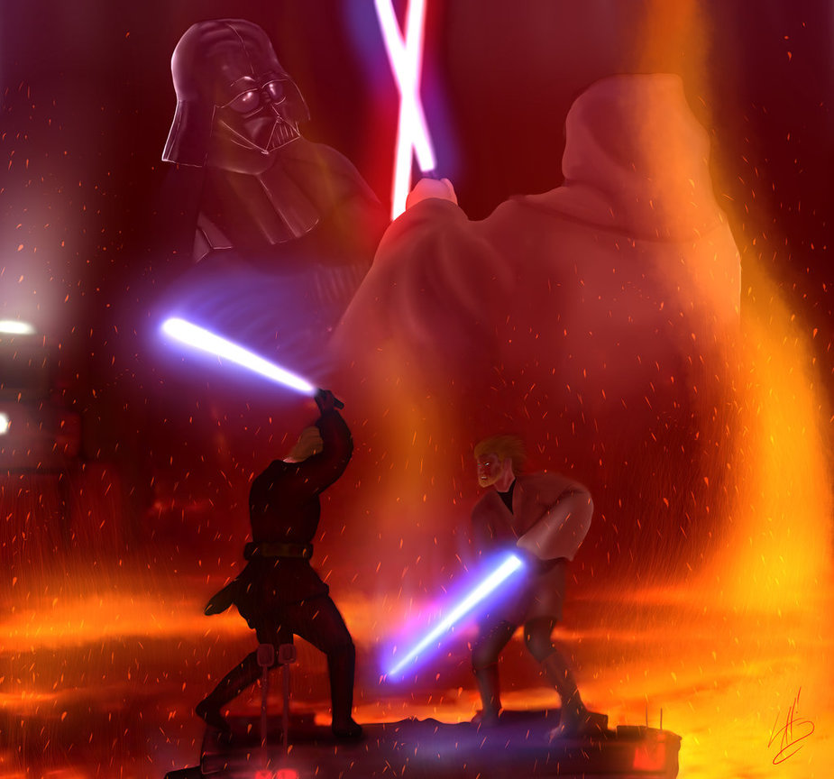 Obi Wan Kenobi vs Anakin Skywalker 1st Place by SylunaHirokashi on 925x864