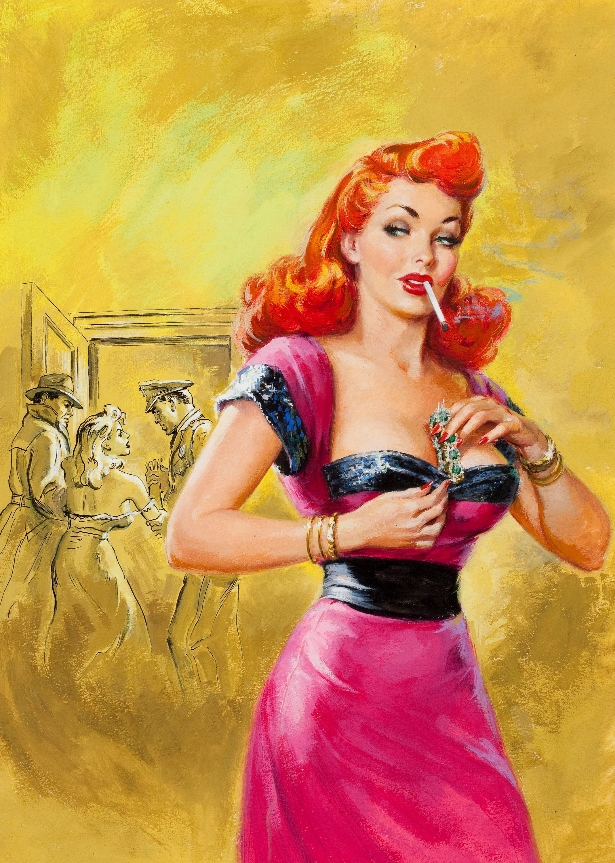 Pin up Cover Wallpaper 2137x3000 Pinup Cover Detective July 1962 2137x3000