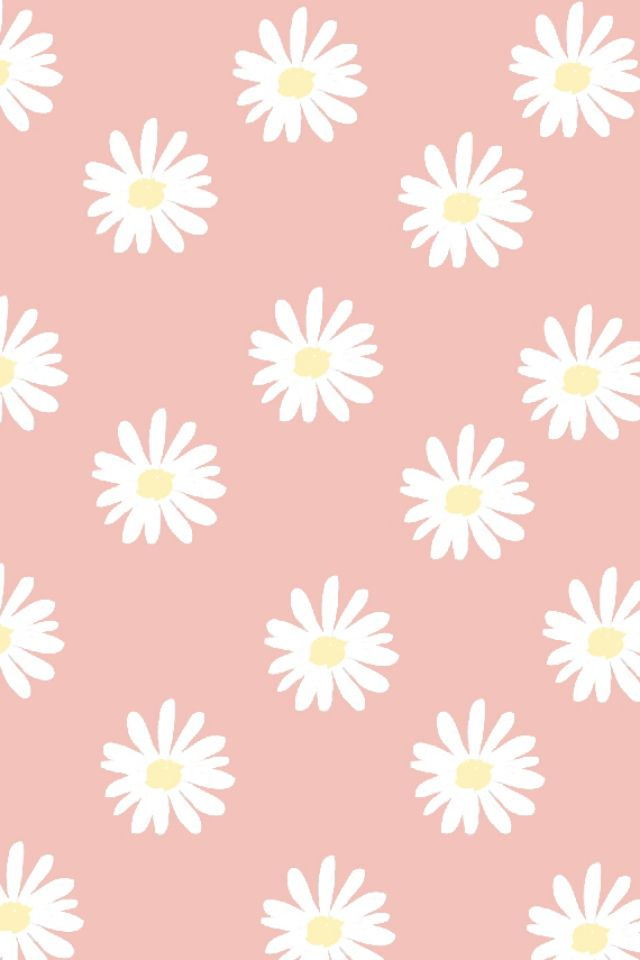 Cute wallpaper Girly wallpapers Pinterest Wallpapers Daisies 640x960