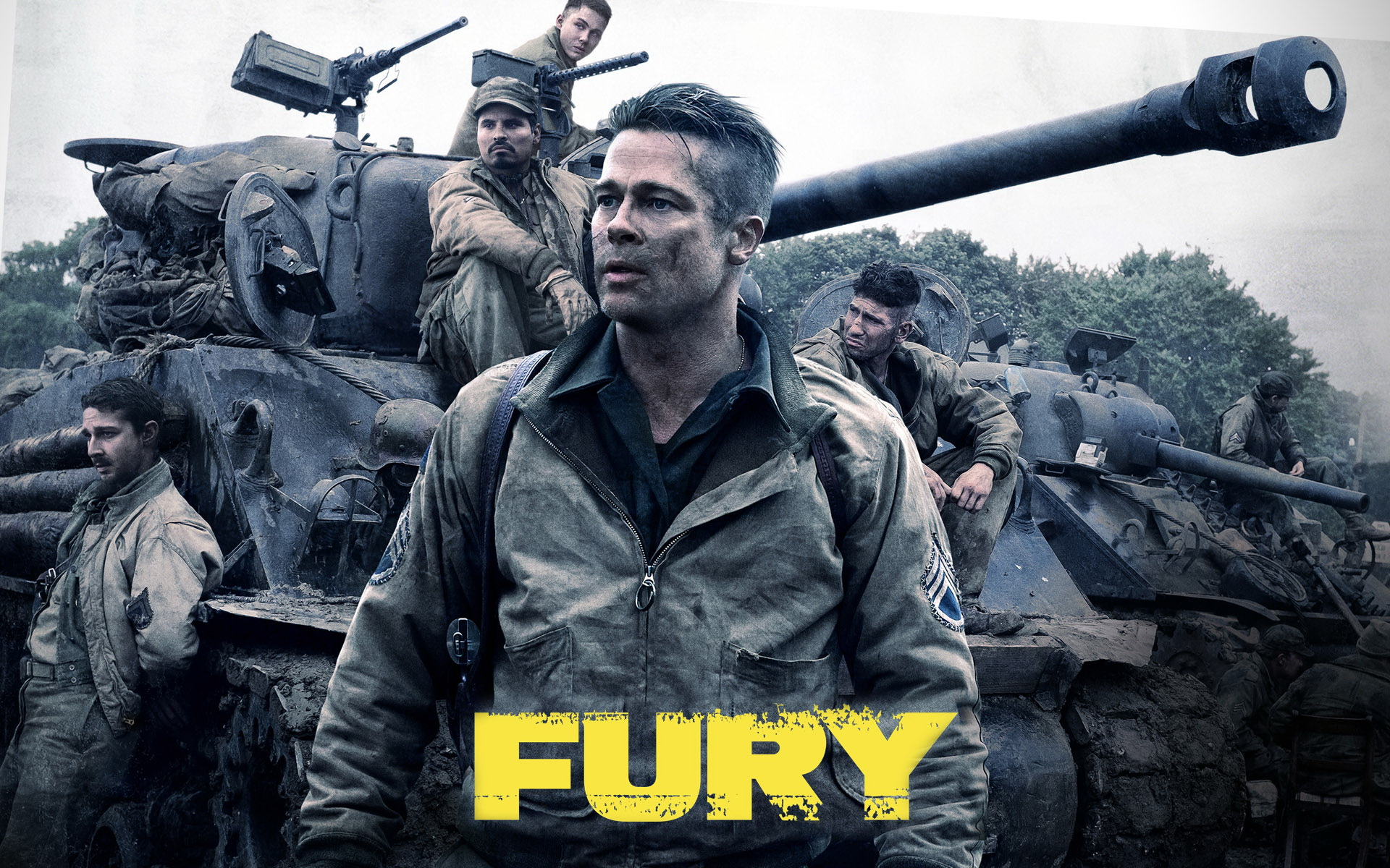 Fury Movie 2014 Wallpaper fury movie 2014 brad pitt 1920x1200