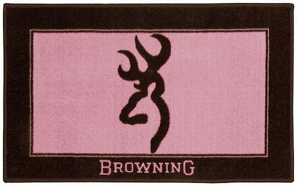Pink Browning Logo Wallpaper Browning pink bath mat rug 100jpg 600x378