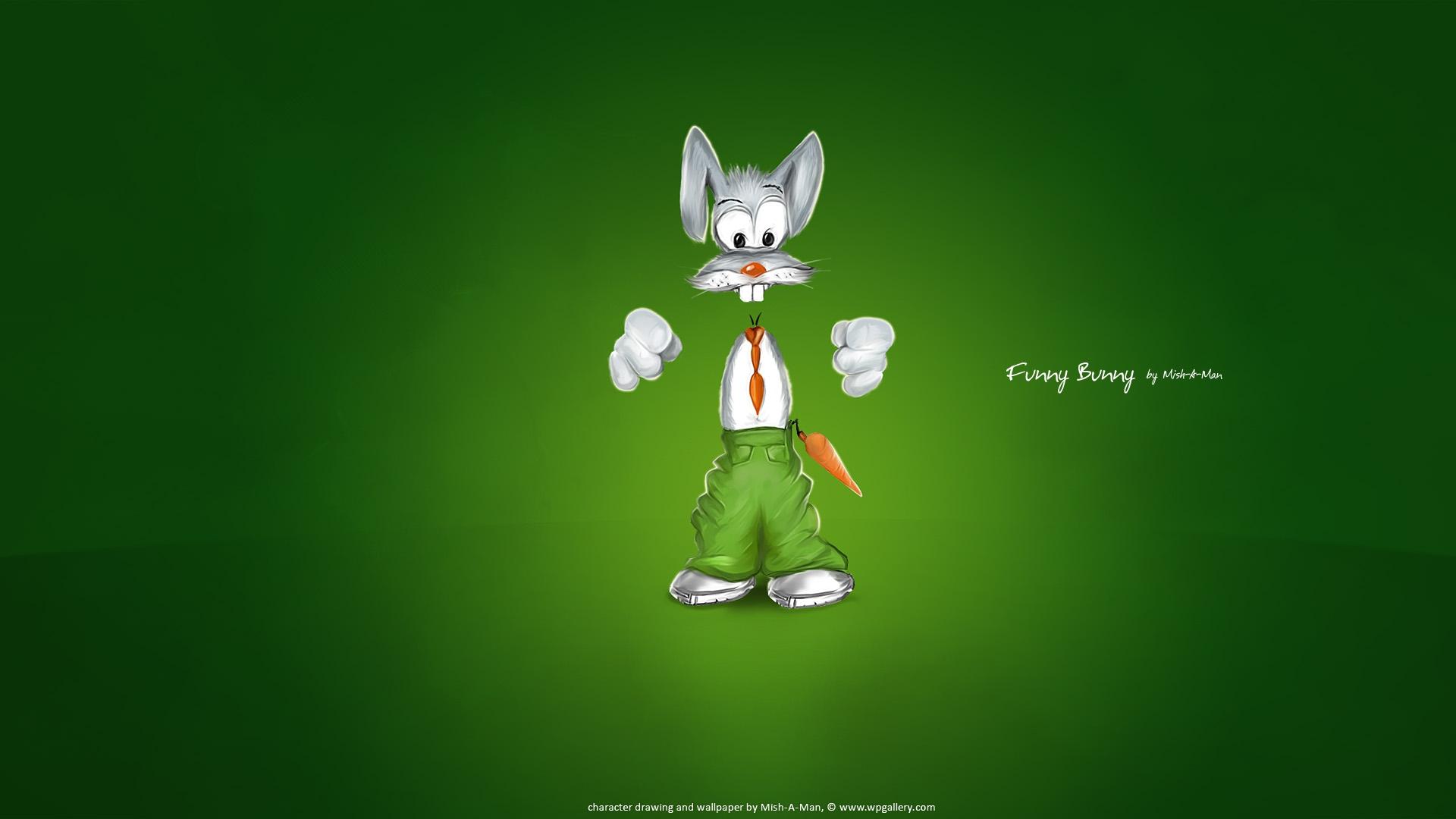 Funny Wallpaper Bunny 199299 1920x1080
