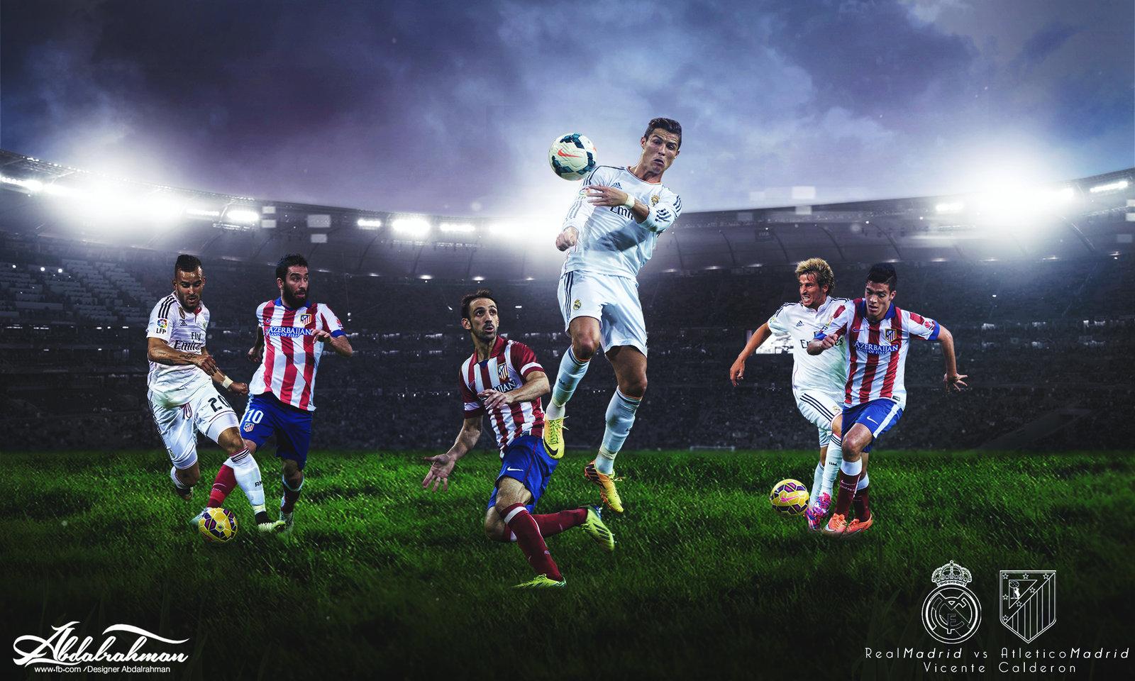 wallpaper real madrid vs atletico madrid 2015 by Designer 1600x960