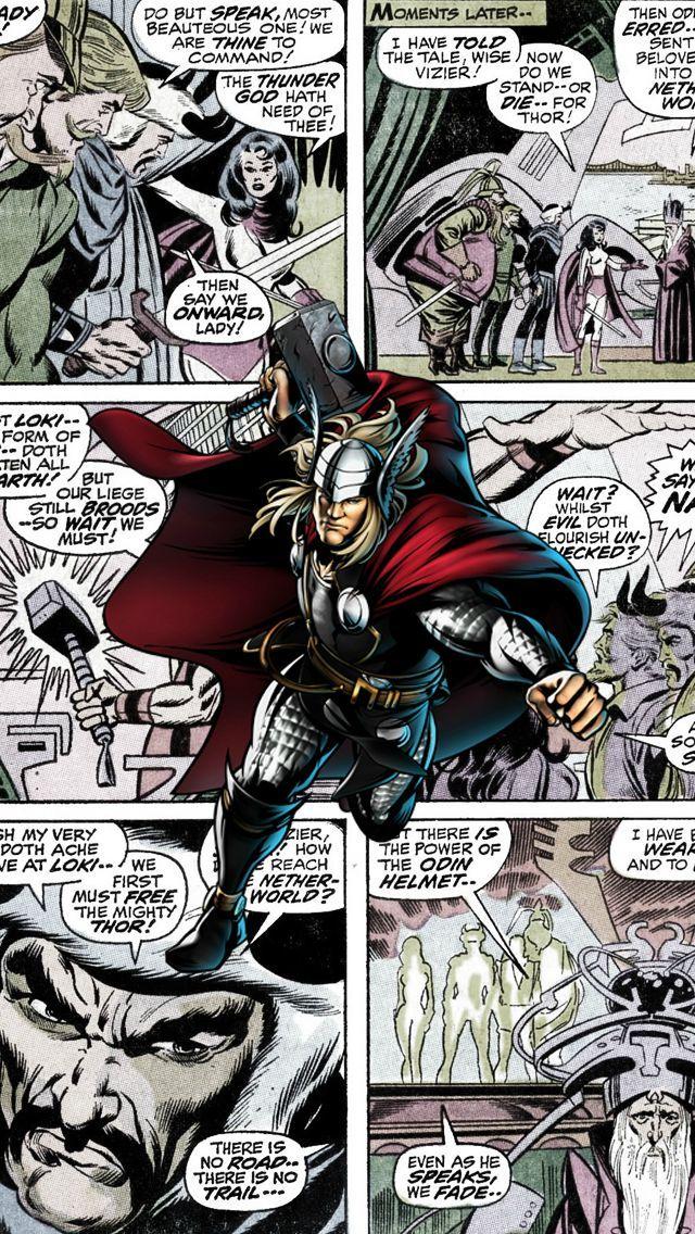 Thor Comics Iphone 5 Wallpaper Comic Pop Art Pinterest 640x1136