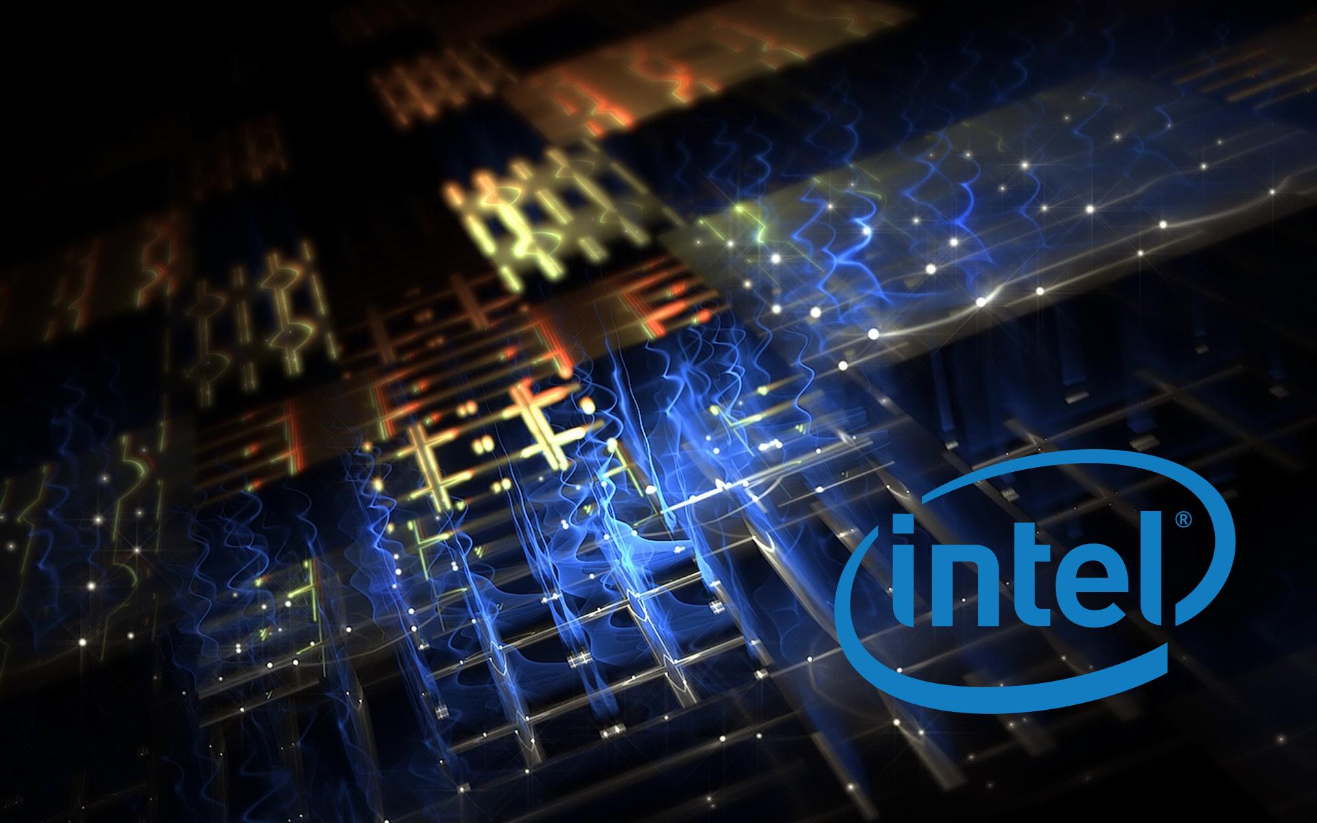 hi tech processor intel logo technology Electric lights 1920x1200