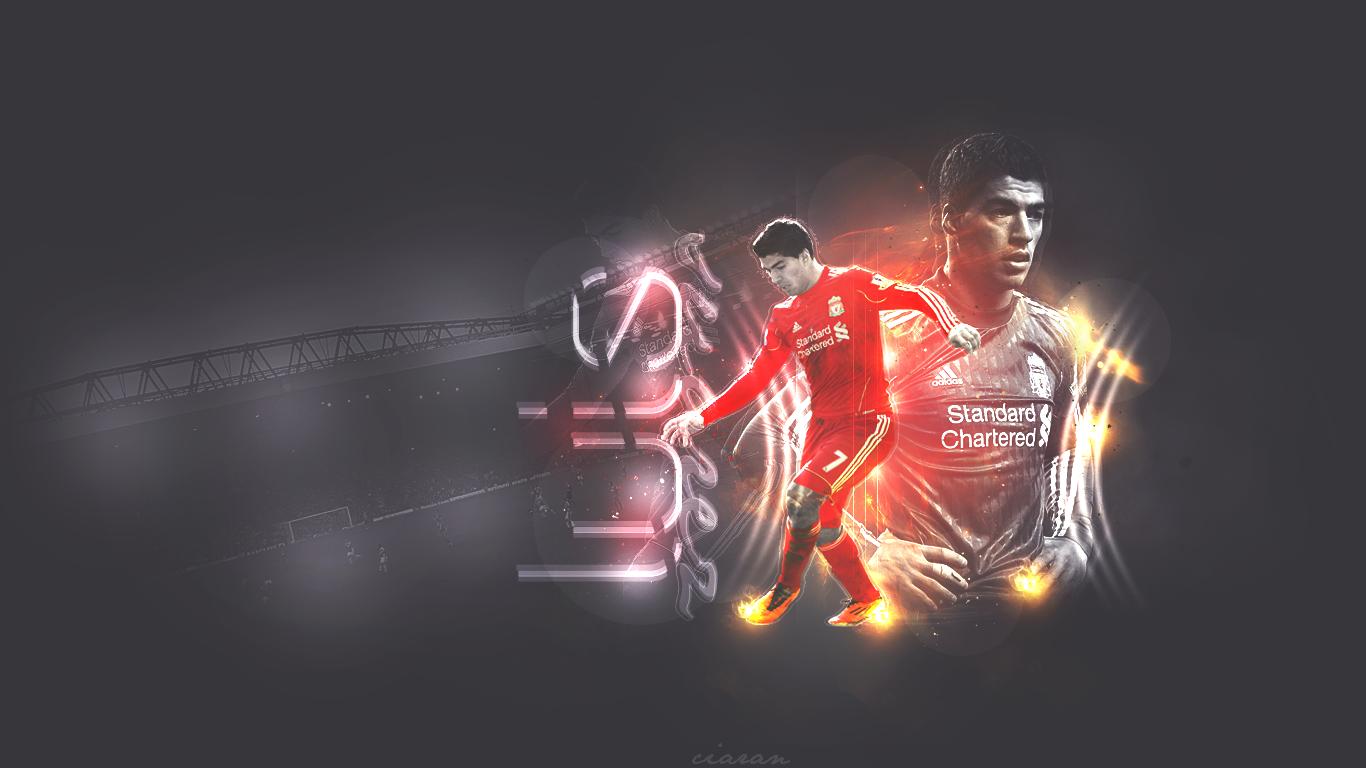 Luis Suarez Liverpool Wallpaper 1366x768