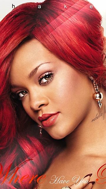 wallpaper per Iphone 5 Rihanna capelli rossi e orecchini wallpapers 360x639