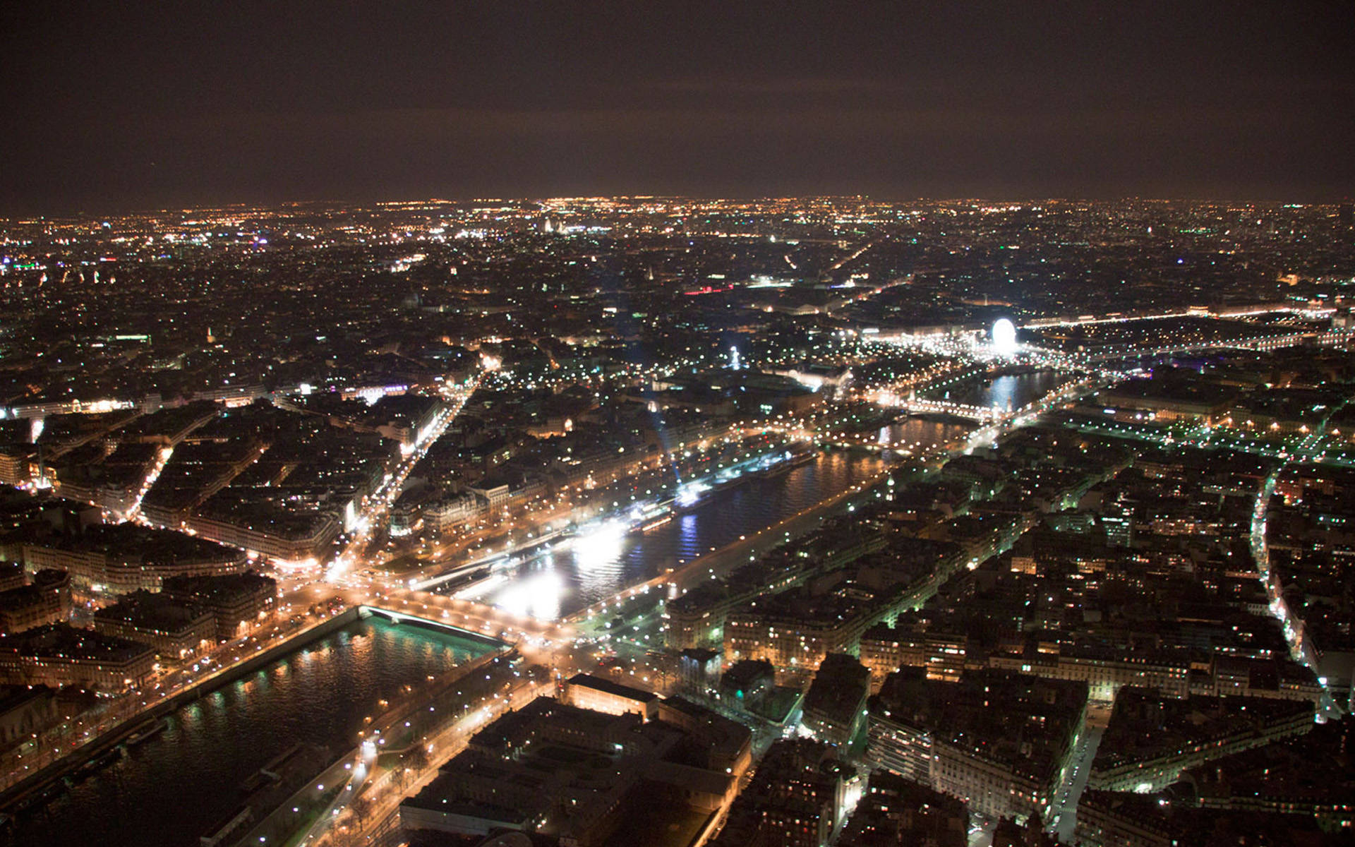 Paris City Night Light View Wallpaper 1920x1200