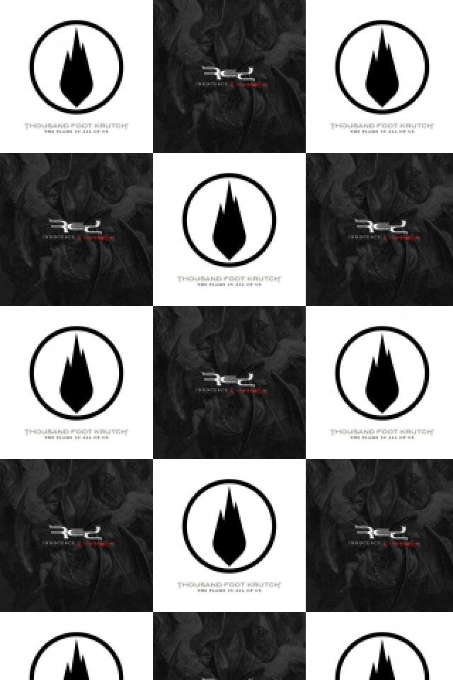 Thousand Foot Krutch Flame In All Red Innocence Wallpaper Tiled 640x960