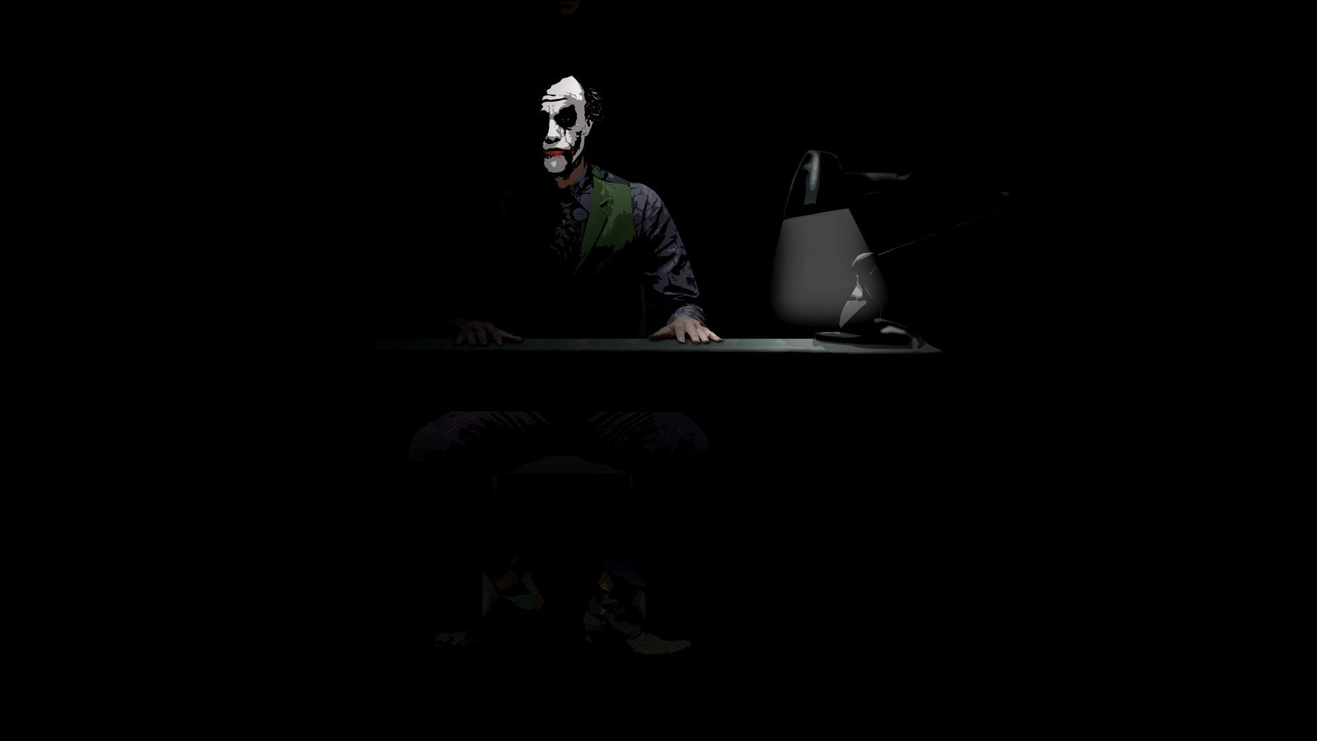 Dark Knight Joker Black And White Wallpaper Homecid