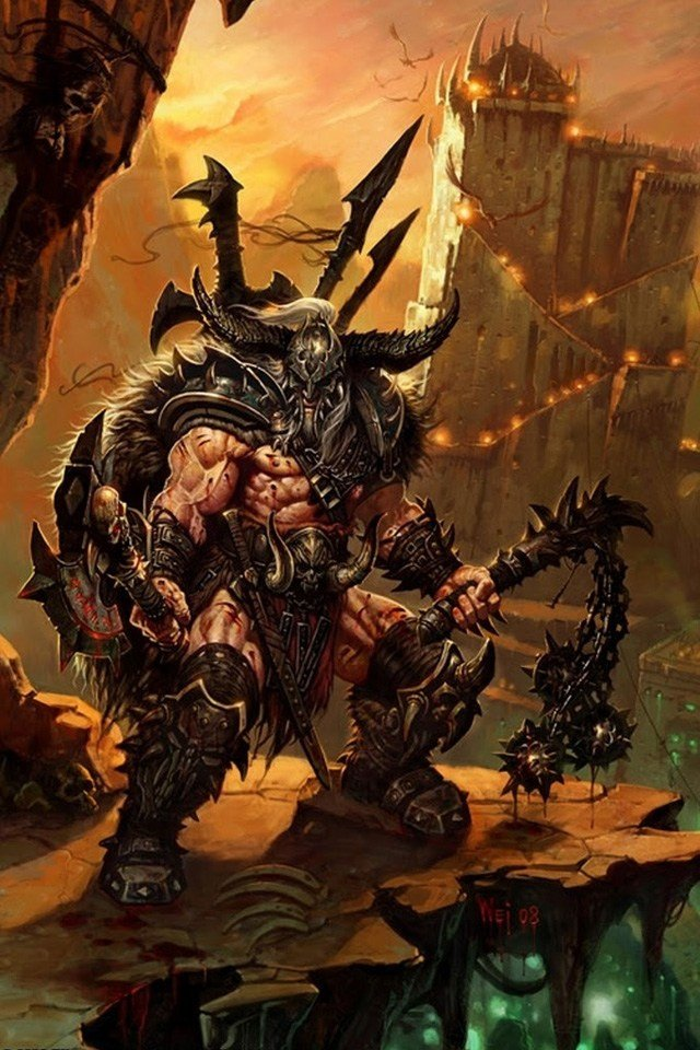 Diablo III Barbarian Wallpaper   iPhone Wallpapers 640x960