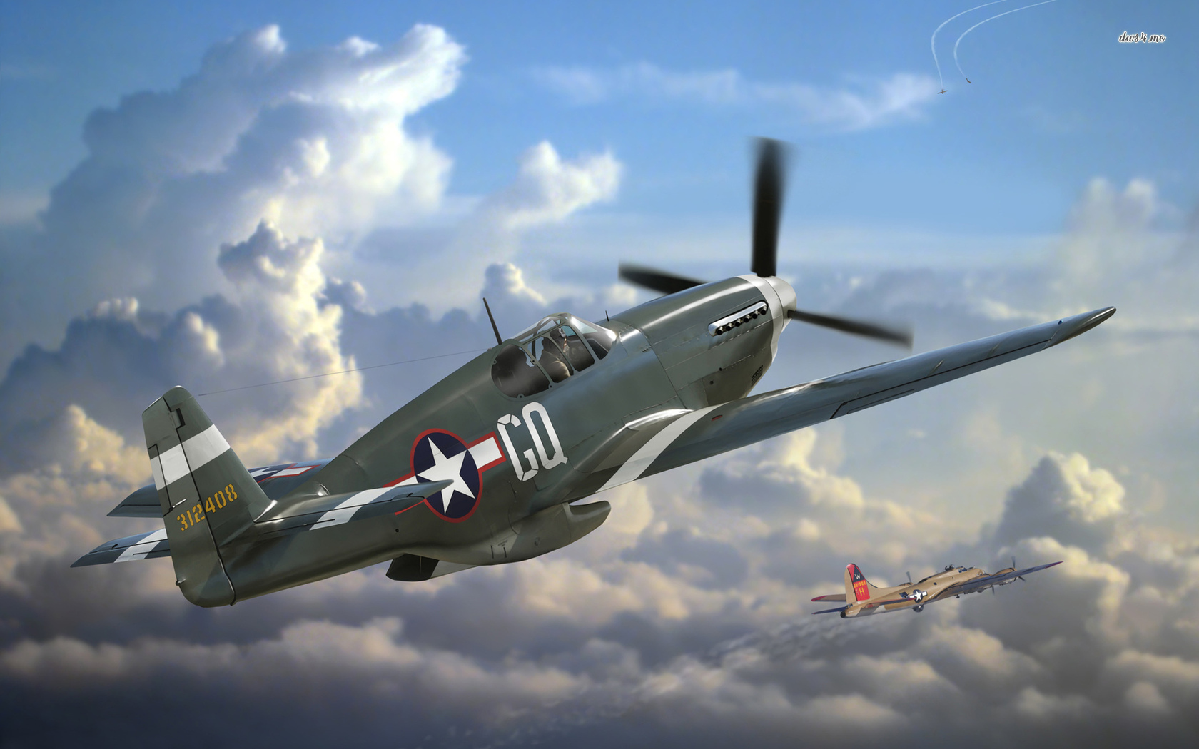 North American P 51 Mustang wallpaper   Aircraft wallpapers   32177 1680x1050