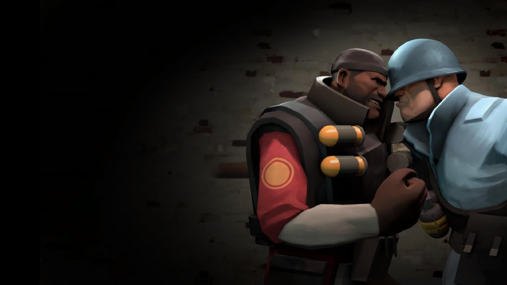 Two man character digital wallpaper Team Fortress 2 soldier 1920x1080