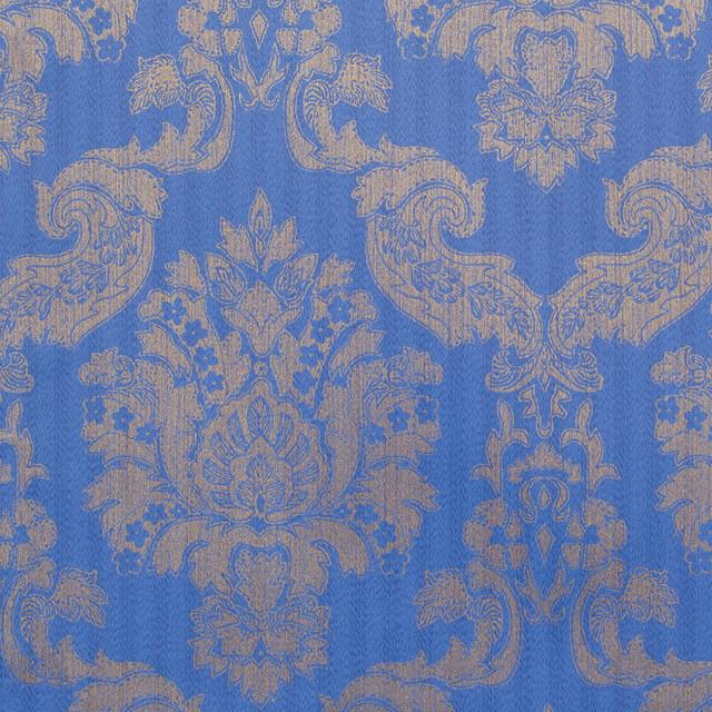 Blue Gold Foil Classic Damask Louis Wallpaper traditional wallpaper 640x640