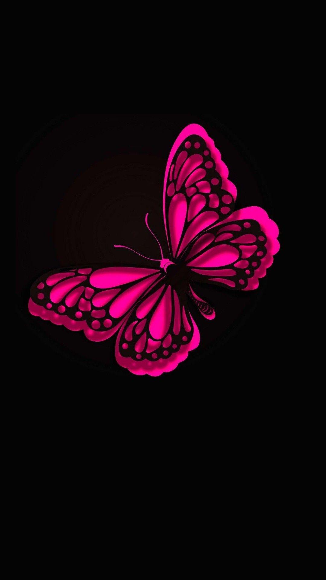 iPhone Wallpaper HD Pink Butterfly Best HD Wallpapers 1080x1920